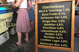 Die Auswahl bei der Bierbörse ist groß..