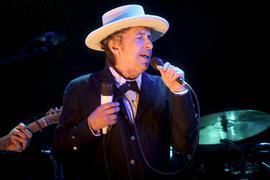 US-Rocksänger Bob Dylan bei einem Konzert am 14.07.2012 in Benicassim (Spanien).
