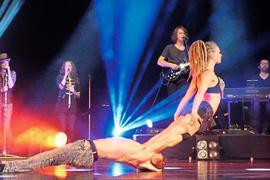 """Klassische Rocksongs und atemberaubende Akrobatik erwartet die Zuschauer bei """"Rock The Circus"""" im Konzerthaus in Karlsruhe. Interessierte können sich noch Tickets sichern."""