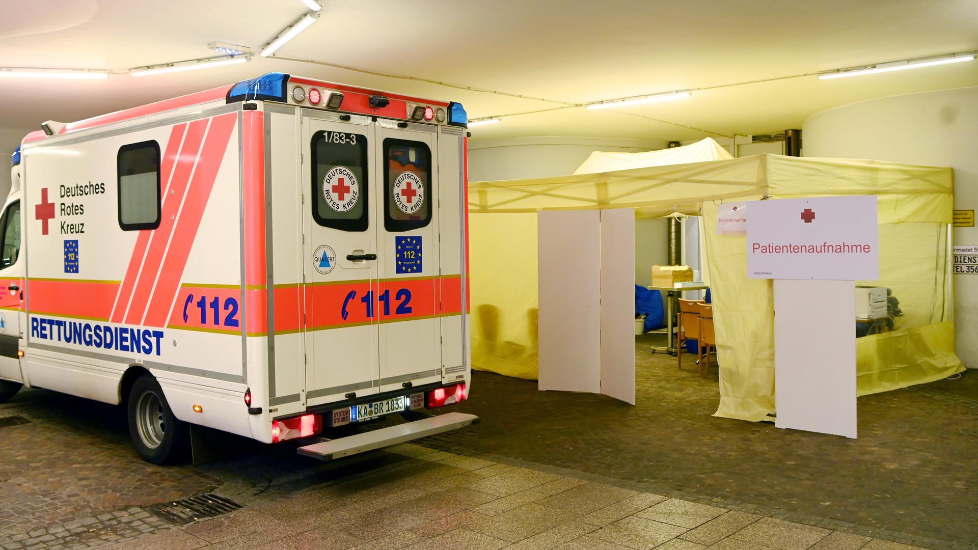 Notfall-Einsätze enden für Mitarbeiter des Deutschen Roten Kreuzes in Karlsruhe in Quarantäne.
