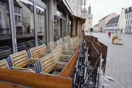 Das Geschäft bleibt vorerst zu. Gaststätten – wie hier in Speyer – müssen warten, wie die weiteren Anweisungen von Bund und Ländern in der Corona-Krise lauten.