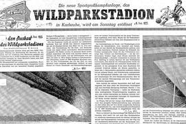 Zeitung vom 6. August 1955.