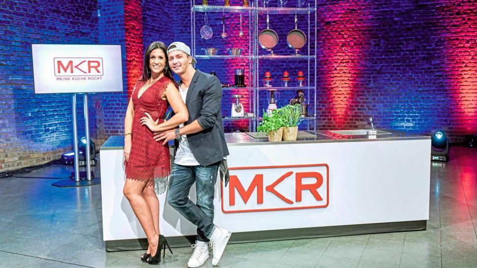 Die Kandidaten der Kochshow Anja Polzer und Alex Petropoulous.