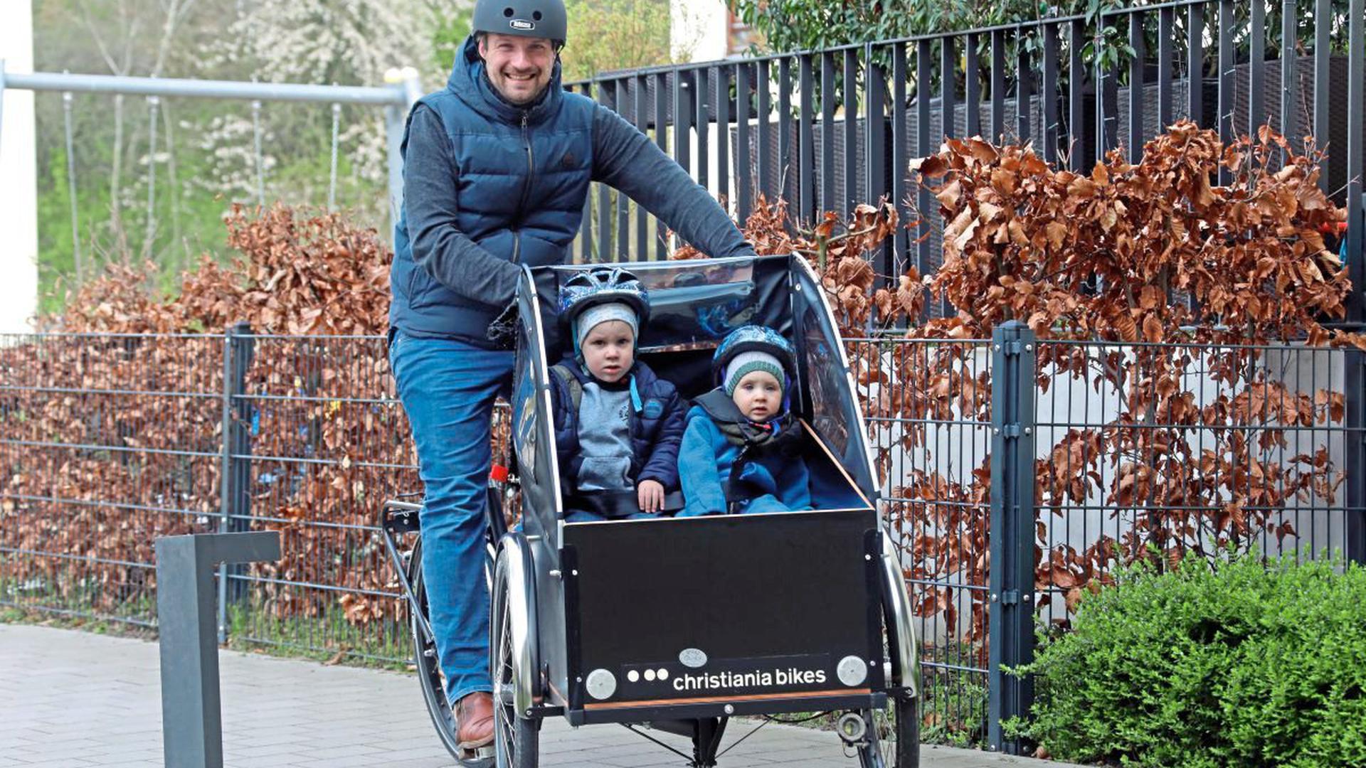 Stefan Dubke hat sich ein Lastenrad gekauft