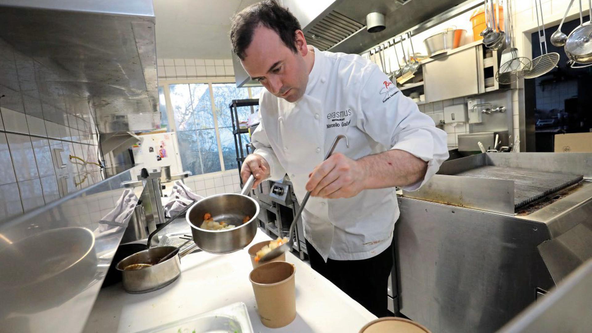 Marcello Gallotti bietet im Sternerestaurant Erasmus einen Abholservice
