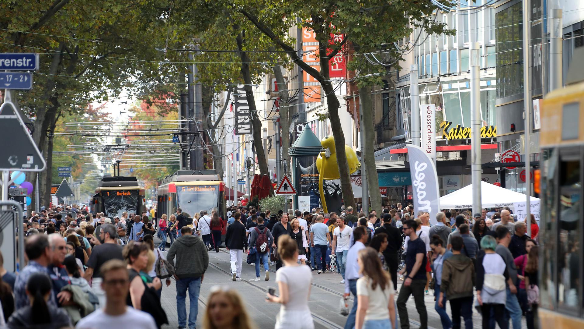 Beim Stadtfest wurde der kostenfreie ÖPNV getestet
