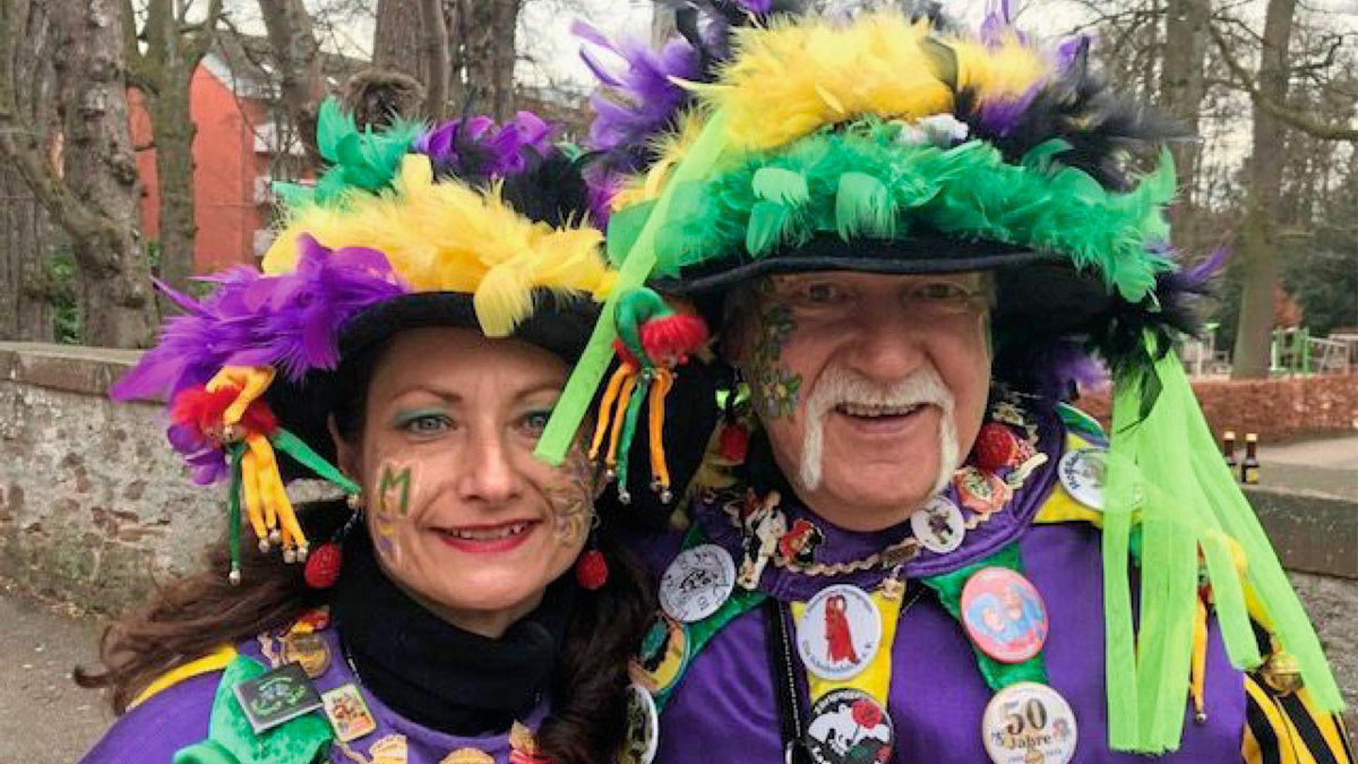 Auch ohne Sonnenschein waren die Karnevalisten bestens gelaunt.