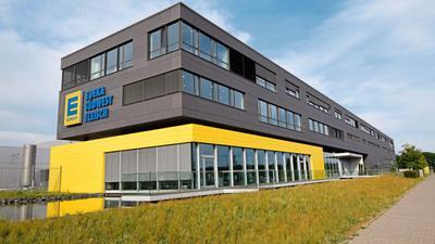 Die Zentrale von Edeka Südwestfleisch in Rheinstetten. Mehr als 1.000 Angestellte sind hier in der Fleischverarbeitung tätig.