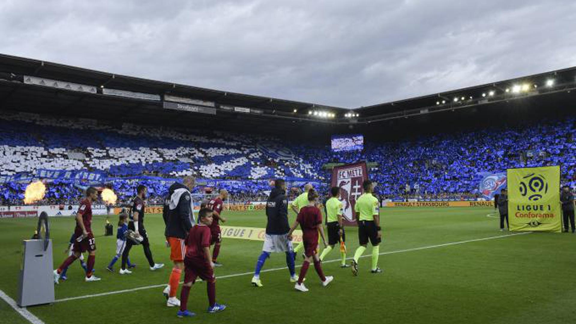 Immer volle Hütte: Das Stade de la Meinau zum Ligaauftakt gegen den FC Metz ausverkauft – so wie fast immer, wenn Racing Straßburg zu Hause spielt. Gegen Eintracht Frankfurt will Straßburg die Gruppenphase der Europa League erreichen.