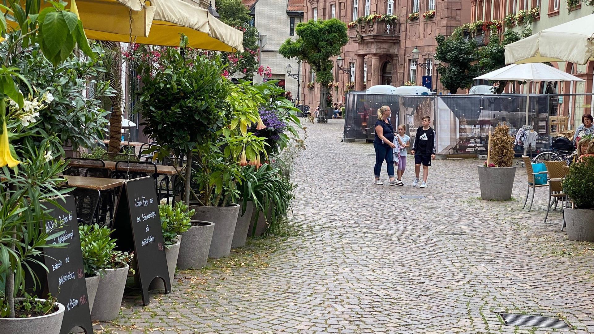 Durchgang zwischen Häusern Altstadt Ettlingen