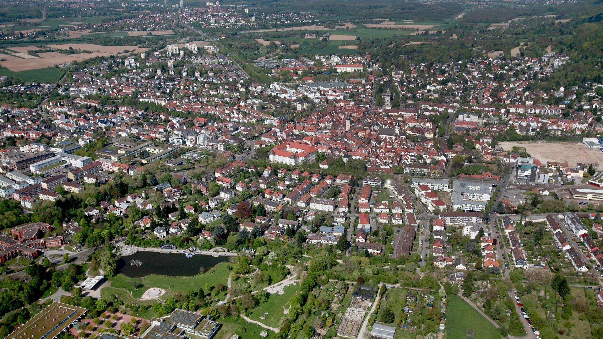 Archiv Luftbilder Fabry  Ettlingen und STadtteile