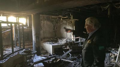 Saunabereich ausgebrannt