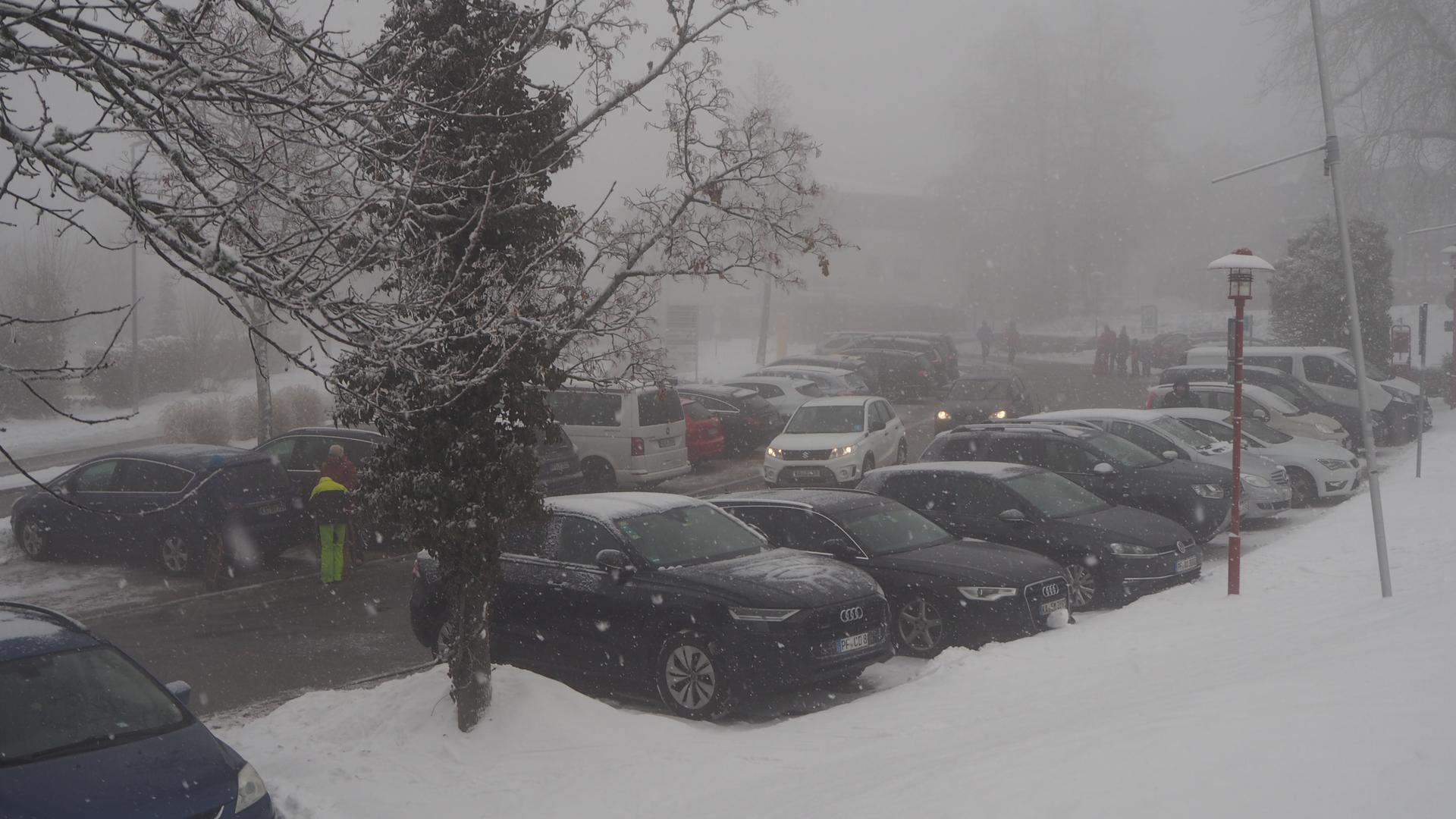 Parkplatz im Schnee