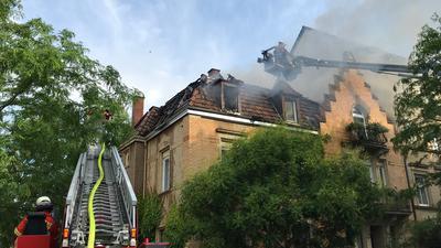 Feuer in Altstadthaus