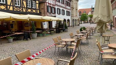Häuser am  Kirchenplatz Ettlingen
