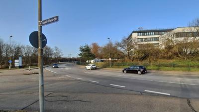 Straßenkreuzung Grashof-/Rudolf-Plank-Straße Ettlingen