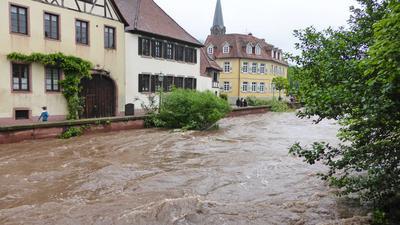 Hochwasser in der Ettlinger Alb vor sieben Jahren.