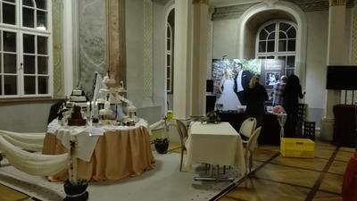 Hochzeitstisch  und Aufbau