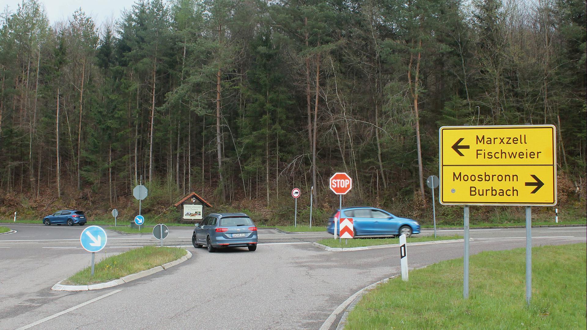 Kreuzung Schöllbronner Mühle