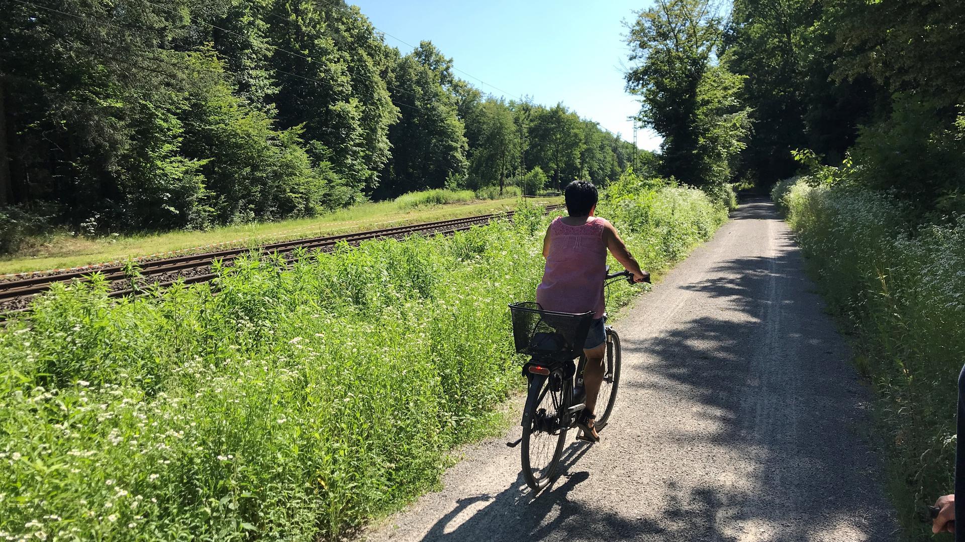 Beliebte Verbindung: Von Bulach entlang der Bahn über den Kutschenweg zum Epplesee. Manche Radfahrer hätten gerne statt Splitt Asphalt auf der Strecke.