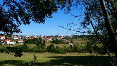 Blick auf Schöllbronn: In dem Ettlinger Ortsteil startet und endet die Tour.