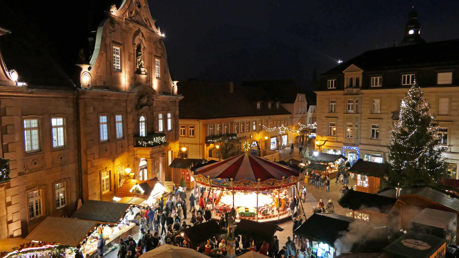 Nachtszene Markt