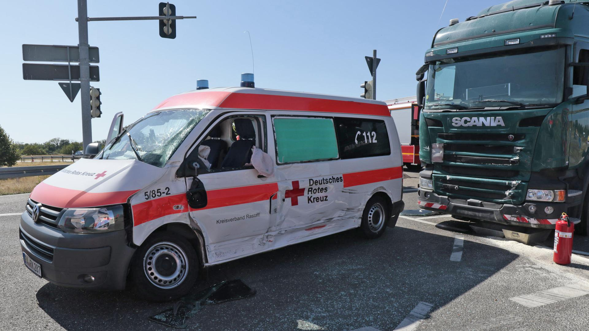 Unfall B36 Durmersheim