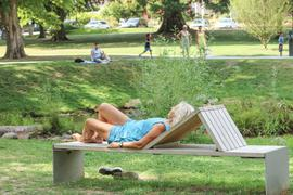 Szene in einem Park