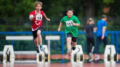 Mit vollem Einsatz: Menschen mit geistiger Behinderung treten beim Special Olympics Landesfest der Leichtathleten am Mittwoch im neuen Ettlinger Stadion an. Unser Bild stammt von den Special Olympics 2015 in Hannover.