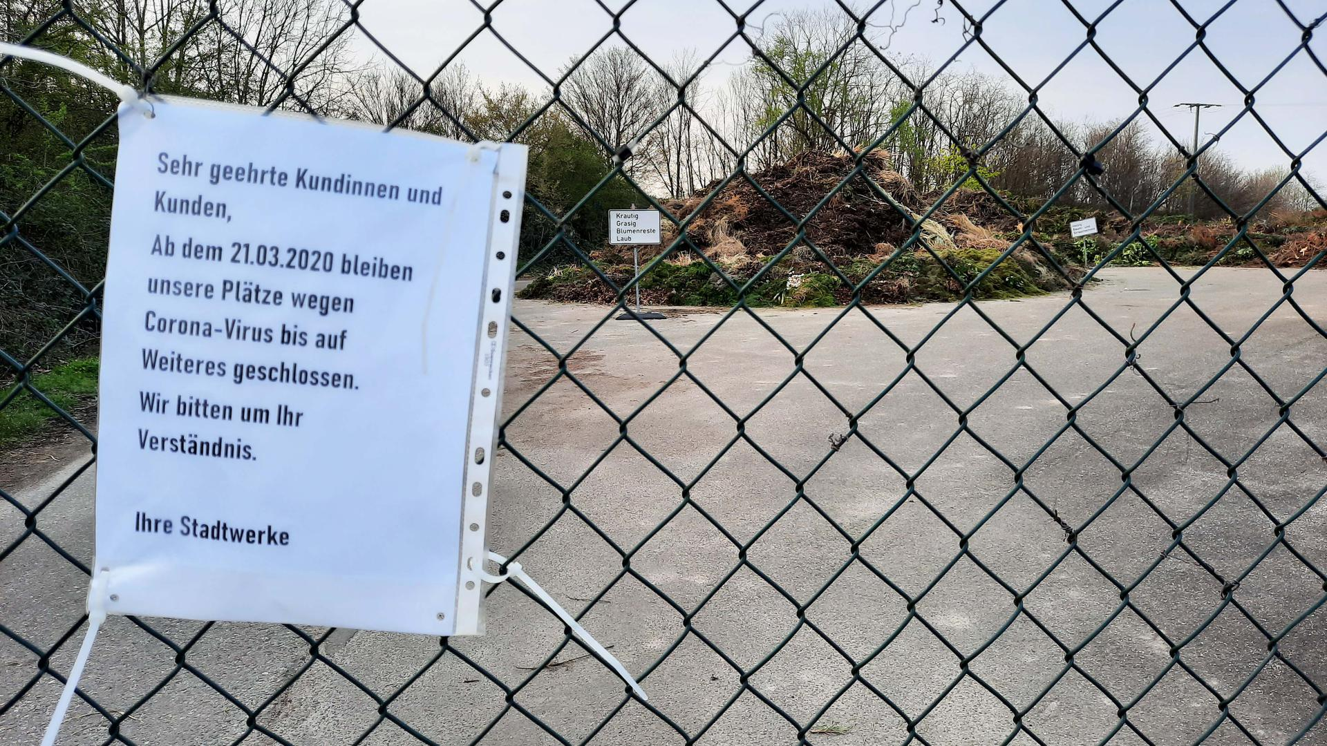 Die Grünabfallplätze in der Region sind seit Tagen geschlossen. Unser Bild entstand in Bruchhausen.