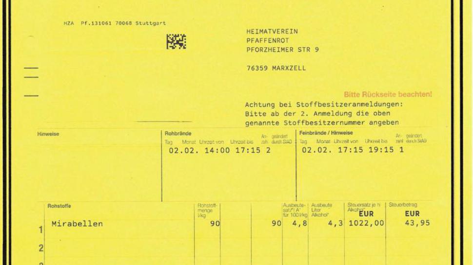 Glückliches Ende eines langen Weges: Die erste Brenngenehmigung für den Verein Anfang Februar.