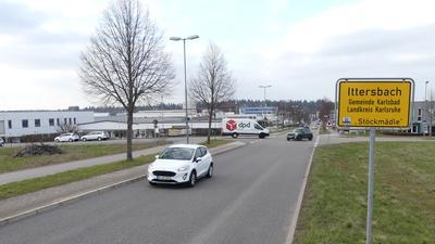 """Schild am Gewerbegebiet """"Stöckmädle"""" in Ittersbach"""