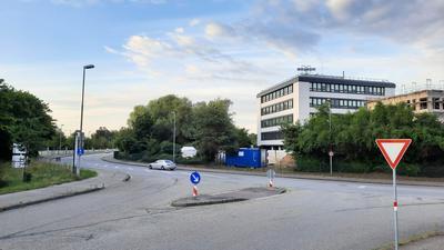 Ampellösung geplant: Die Kreuzung Grashofstraße/Rudolf-Plank-Straße soll 2021 umgebaut werden.