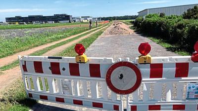 Beliebte Verbindung: Der Kutschenweg in Rheinstetten ist in einem schlechten Zustand. Jetzt ärgern sich Radfahrer noch über die Sommerbaustelle bei der Landesanstalt für Pflanzenschutz.