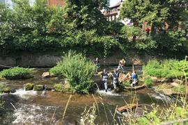 Leichenfund in der Alb in Ettlingen