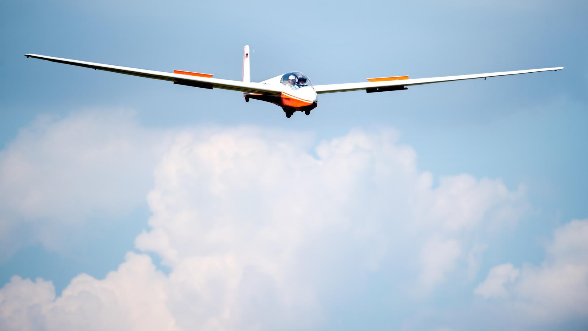 """Unterwegs in luftigen Höhen: Segelflieger in Forchheim benutzten den Spruch """"Mörsch -Malsch - Madrid"""" spaßhaft als Bezeichnung für sogenannte Dreiecksflüge (Symbolbild)."""