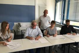 Unterzeichnung Vertrag