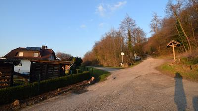 Am Waldrand ist noch Platz: Das Grundstück links auf diesem Bild will die Gemeinde verkaufen, um Wohnraum zu schaffen.