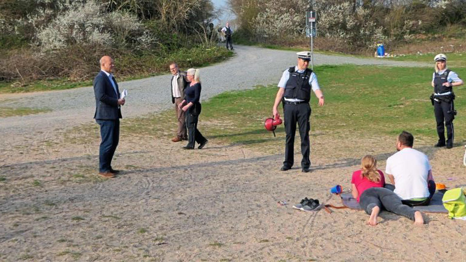 Die Polizei kontrollierte im März die Einhaltung des Verweilverbots am Epplesee.