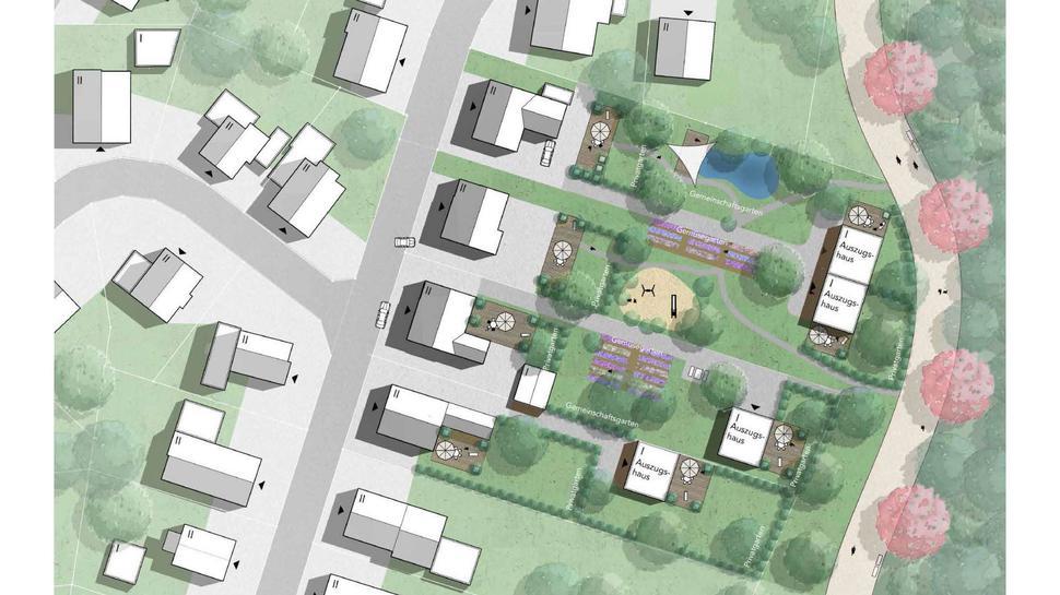 So ähnlich könnte der Plan für die sogenannten Auszugshäuser auf großen Grundstücken aussehen,