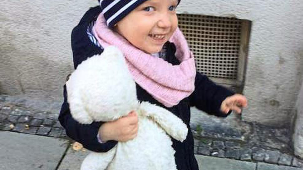 Dieses Bild der damals zweijährigen Sophie, das mit dem Aufruf zur Typisierungsaktion veröffentlicht wurde, bewegte die Ettlinger und die Menschen in der Region.