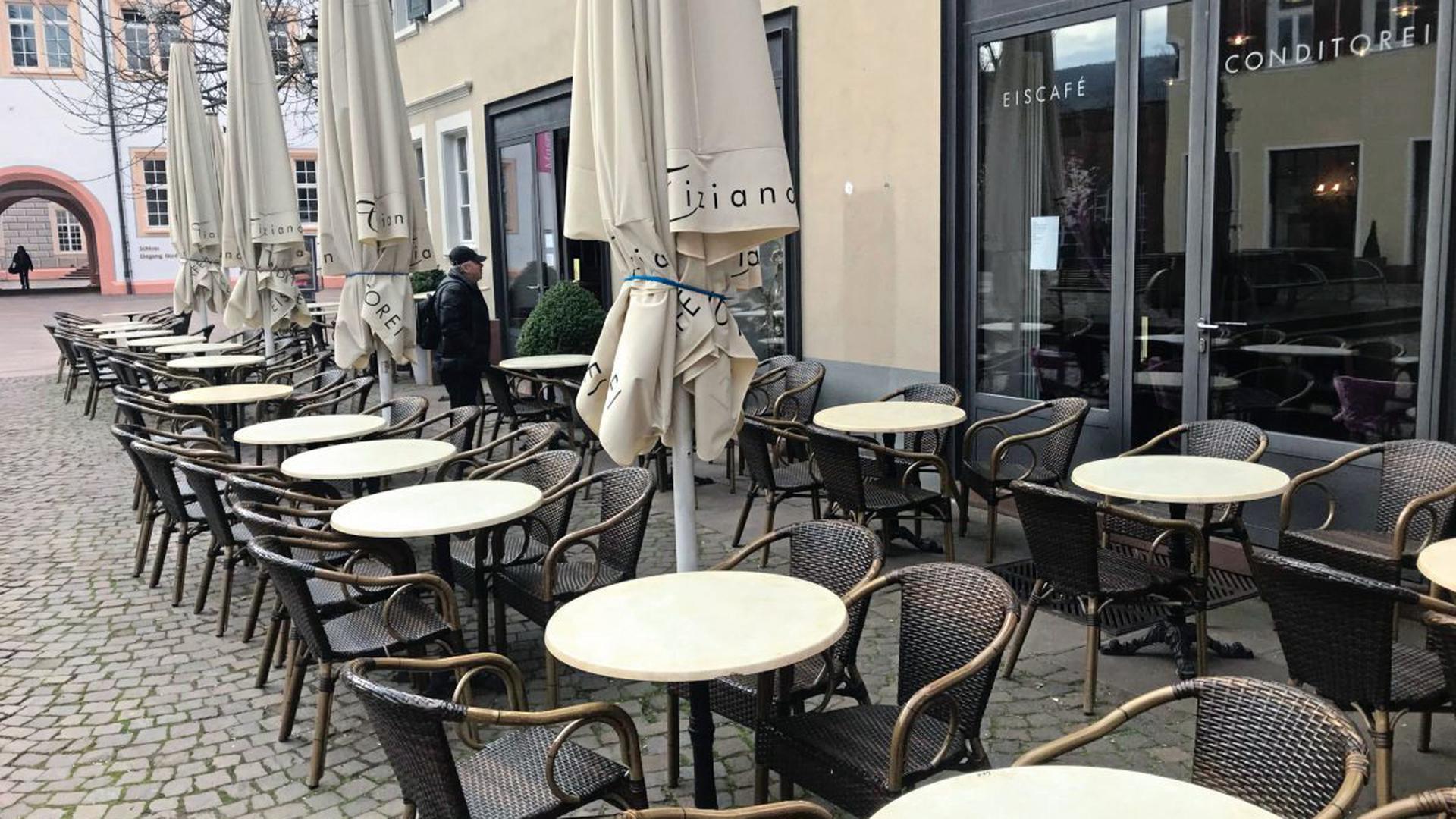 Kein Eis mehr genießen konnten die Ettlinger am Dienstag im Café Tiziano in der Altstadt: Wegen des Coronavirus hat es am 17. März geschlossen.