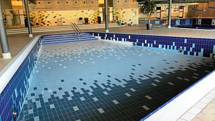 Vor der Eröffnung waren die Becken zum letzten Mal alle auf einmal leer.