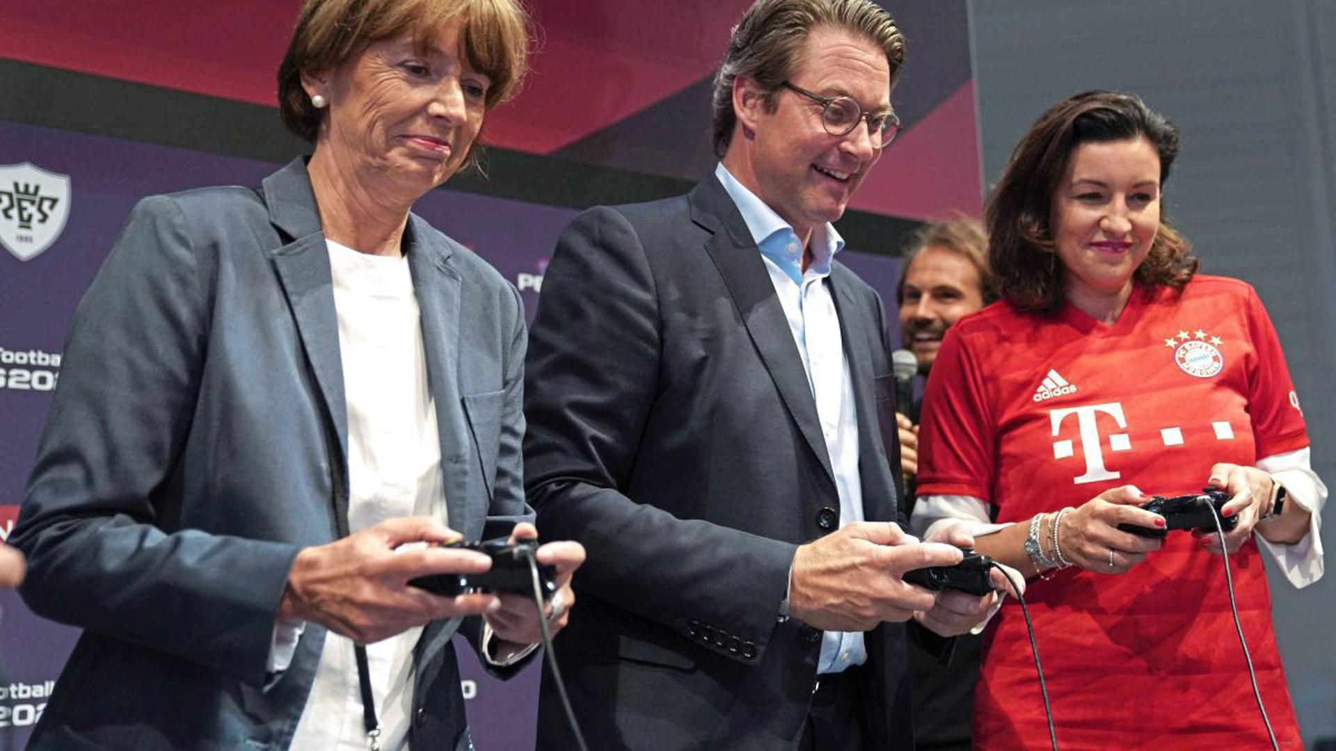Henriette Reker, Andreas Scheuer und Dorothee Bär bei der Eröffnung der weltgrößten Computerspielmesse Gamescom 2019.