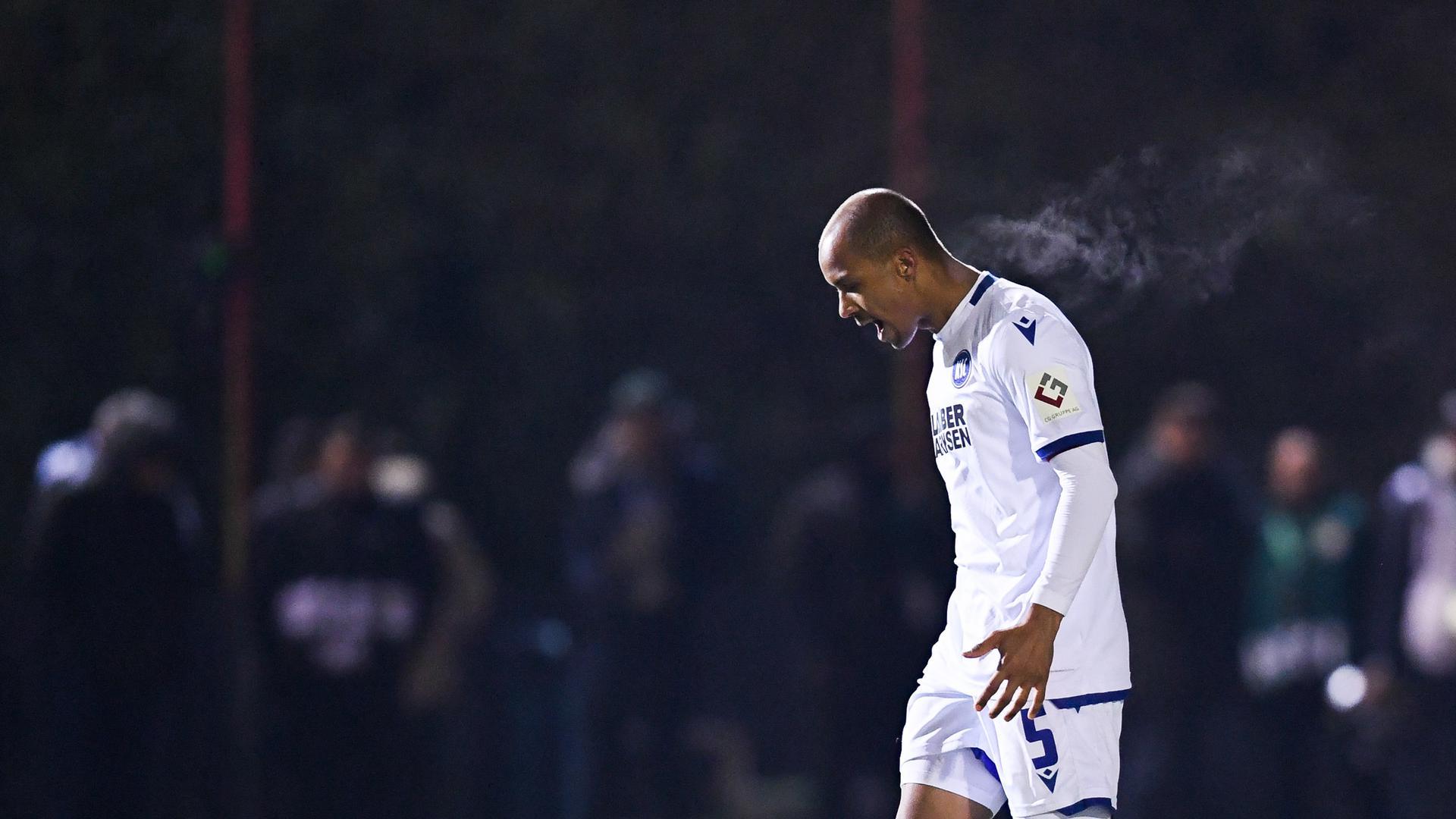 KSC-Kapitän David Pisot war im Pokal-Achtelfinale gegen Saarbrücken im Elfmeterschießen der Unglücksrabe.
