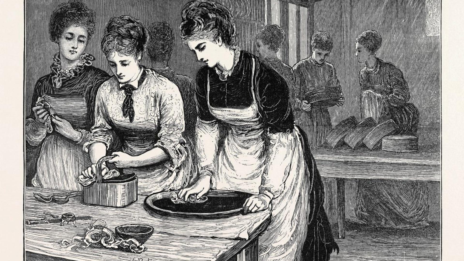 Haushaltsschulen boten Frauen die Möglichkeit, sich auf unverdächtige Weise beruflich zu qualifizieren.