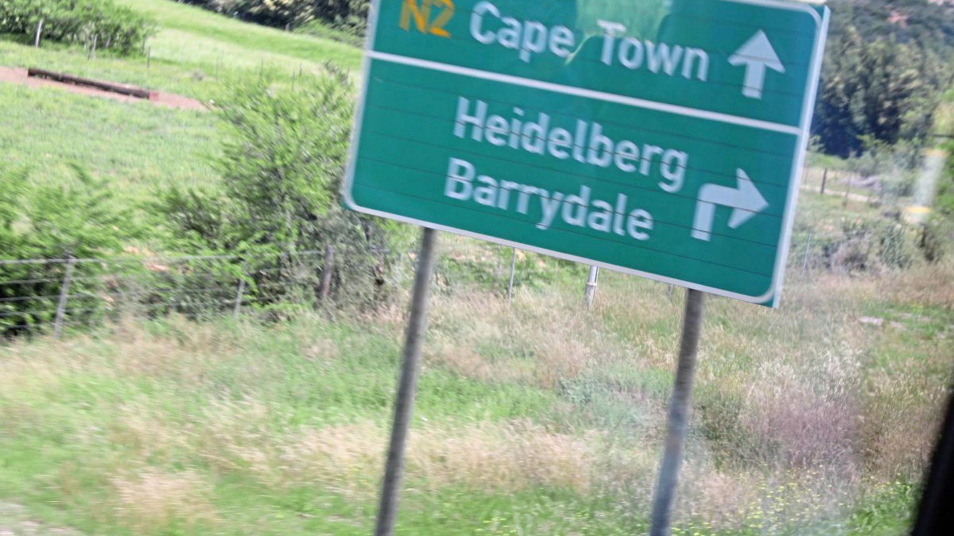 In Südafrika gibt es zwei Orte mit dem Namen Heidelberg. Der auf dem Foto liegt in der Provinz Westkap.
