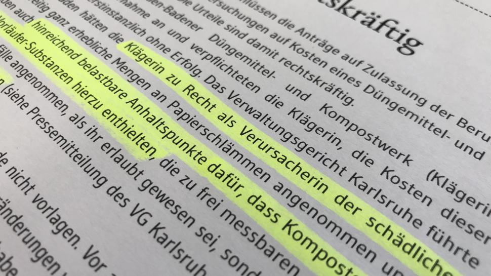 Verwaltungsrechtlich wurde Franz Vogel verurteilt.