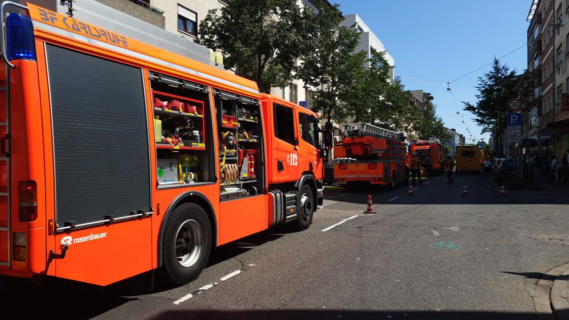 Feuerwehreinsatz Karlsruhe