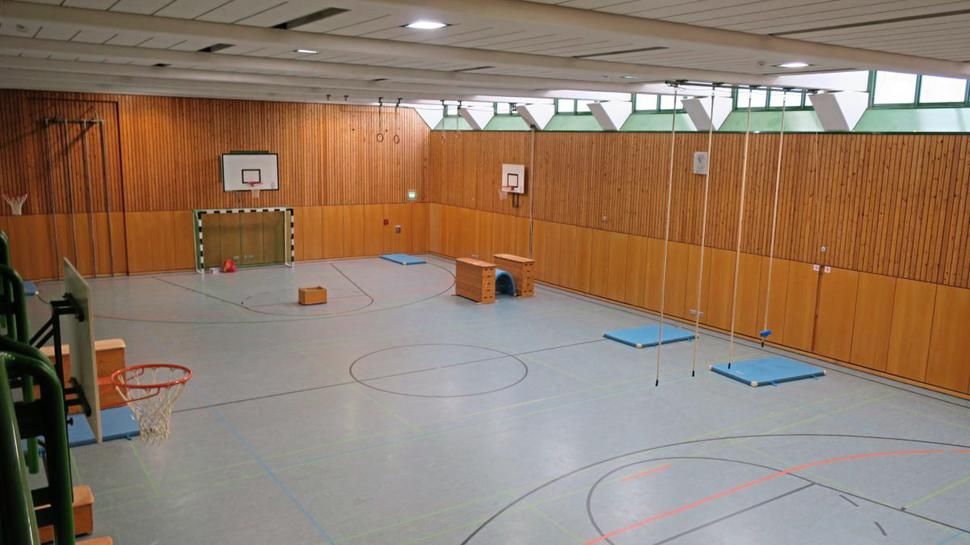Die Sporthalle des SBBZ in Neckargemünd.